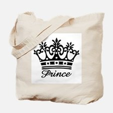 Prince Black Crown Tote Bag