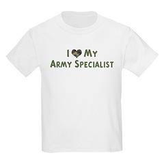 Army Specialist: Love - camo Kids T-Shirt