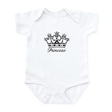 Princess Black Crown Infant Bodysuit