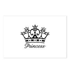 Princess Black Crown Postcards (Package of 8)