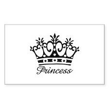 Princess Black Crown Rectangle Decal