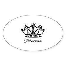 Princess Black Crown Oval Decal