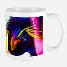Rainbow Rockhopper Penguin Mug