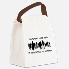 Zombie shirt 2 Canvas Lunch Bag