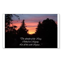 Sunset Splendor Rectangle Decal