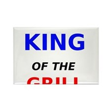 King of the Grill Rectangle Magnet