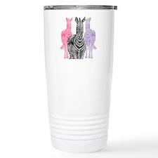 Trio Zebra Print Travel Mug