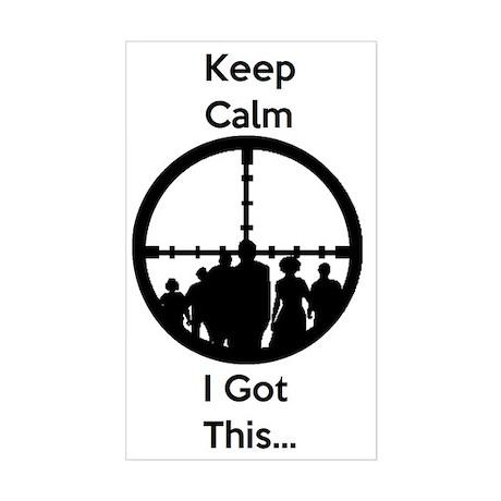 Zombie Keep Calm I Got This Sticker