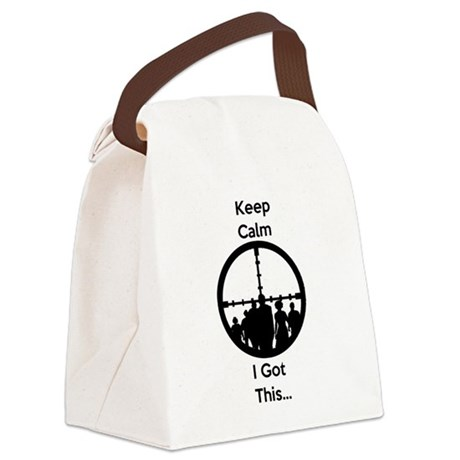 Zombie Keep Calm I Got This Canvas Lunch Bag
