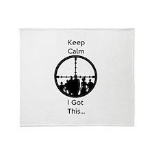 Zombie Keep Calm I Got This Throw Blanket