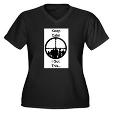 Zombie Keep Calm I Got This Plus Size T-Shirt