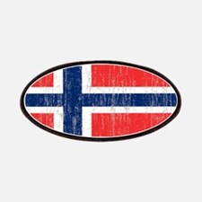 Vintage Norway Flag 5 feet by 7 feet rug Patches