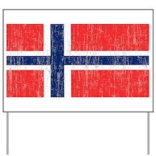 Vintage Norway Flag 5 feet by 7 feet rug Yard Sign