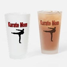KARATE MOM 3 Drinking Glass