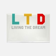 Cute Living the dream Rectangle Magnet