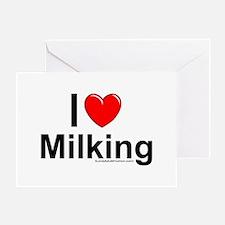 Milking Greeting Card