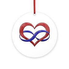 Polyamory Heart Ornament (Round)
