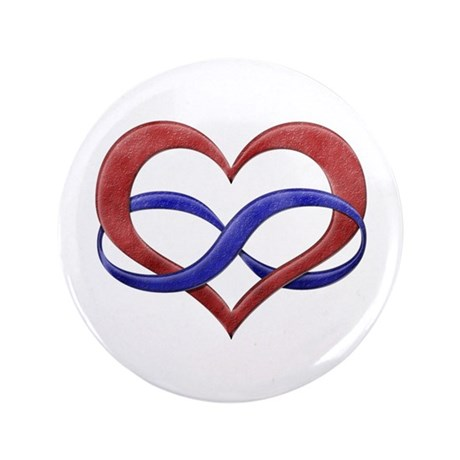 "Polyamory Heart 3.5"" Button"
