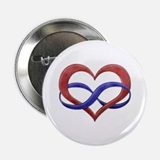 "Polyamory Heart 2.25"" Button"