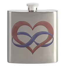 Polyamory Heart Flask