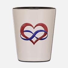 Polyamory Heart Shot Glass