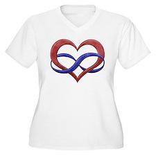 Polyamory Heart Plus Size T-Shirt