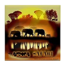 Africa Elephant Safari Tile Coaster