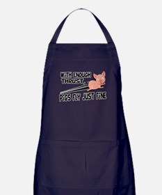 Pigs Fly Just Fine Apron (dark)
