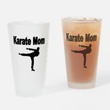 KARATE MOM Drinking Glass