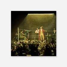 "Vintage Sports Boxing Square Sticker 3"" x 3"""
