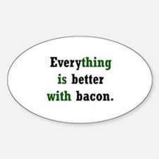 Bacon Lover Oval Decal