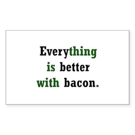 Bacon Lover Rectangle Sticker