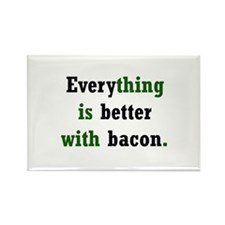 Bacon Lover Rectangle Magnet