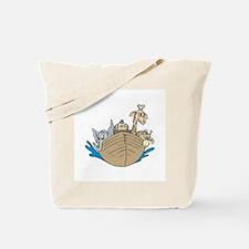 Cute Noah's Ark Design Tote Bag