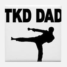 TKD DAD 2 Tile Coaster