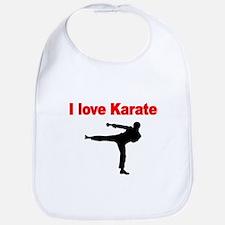 I LOVE KARATE Bib