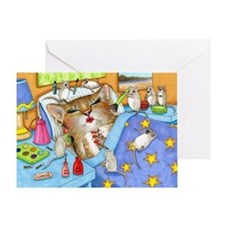 Cat 508 Greeting Card