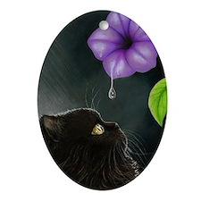 Cat 514 Oval Ornament