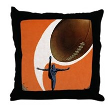 Vintage Sports Football Throw Pillow