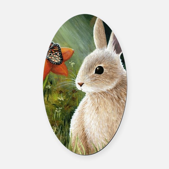 Hare 55 Oval Car Magnet