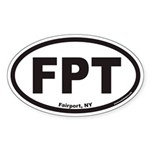 Fairport New York FPT Euro Oval Sticker