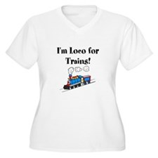 Loco for Trains Plus Size T-Shirt