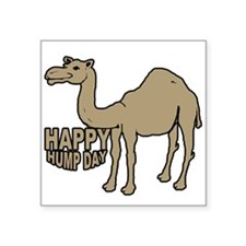 "Camel happy hump day Square Sticker 3"" x 3"""