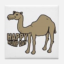 Camel happy hump day Tile Coaster