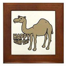 Camel happy hump day Framed Tile