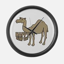 Camel happy hump day Large Wall Clock