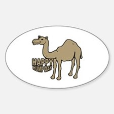 Camel happy hump day Sticker (Oval)