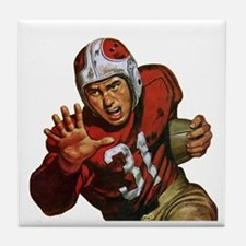 Vintage Sports Football Tile Coaster