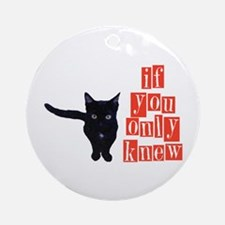 if you only knew. . . Ornament (Round)