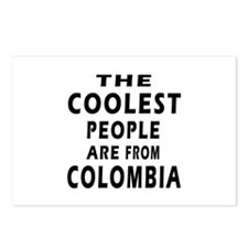 The Coolest Colombia Designs Postcards (Package of